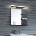 Contemporary LED Sconce Lights Silica Gel Wall Mounted Light in White with Black for Vanity