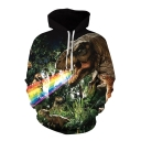 Unisex 3D Animal Pattern Long Sleeve Casual Loose Pullover Hoodie