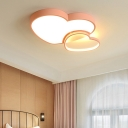Loving Heart Flush Mount Nordic Metal Led Flush Ceiling Light for Girls Bedroom