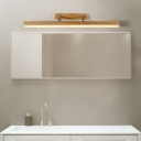 Oak Linear Vanity Light Extendable Nordic Bathroom Led Wall Sconce Light for Mirror