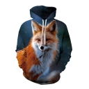 New Arrival Unisex 3D Wolf Printed Long Sleeve Casual Hoodie