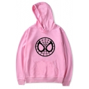 Cool Spider Web Face Printed Long Sleeve Unisex Sport Leisure Hoodie
