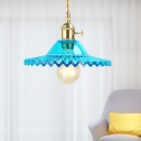Lake Blue Hanging Light Retro Style Clear Glass 1 Light Hanging Dining Room Pendant Light