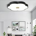 Modern Nordic Floral Flush Light Iron 1-Light Flush Mount Ceiling Light Fixtures for Bedroom