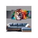 Colorful Lion Painting Wall Art Canvas Picture for Living Room Five-Piece 30x40CM 30x60CM 30x80CM