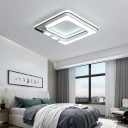 Contemporary Led Ceiling Flush Mount Light Metal and Acrylic Bedroom Flush Light