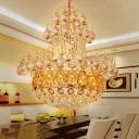 Crystal Ball Pendant Lighting Modern Metal Gold Pendant Light Fixtures for Living Room