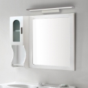 Waterproof LED Mirror Headlights, Contemporary Acrylic Linear Sconce Wall Lighting in White