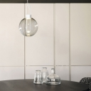 Mini Ball Hanging Pendant Light Minimalism Clear Closed Glass Led Suspension Light