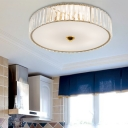 Gold Crystal Flush Mount Modern Metal Acrylic Close to Ceiling Lighting for Bedroom Living Room