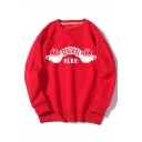 CENTRAL PERK Letter Coffee Printed Round Neck Long Sleeve Casual Sweatshirt