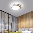 Tiered Design Bedroom Ceiling Lamp Acrylic LED Modern Flush Lighting in Black/White