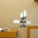 Pipe Accent Lamp Vintage Industrial Iron Desk & Table Lamp for Dorm, Bedroom and Living Room