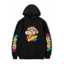 Funny Cartoon Rainbow Figure Printed Long Sleeve Unisex Pullover Hoodie