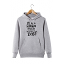 Funny Simple Letter I'LL BE IN MY BEDROOM Printed Long Sleeve Pullover Hoodie