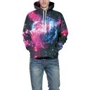Trendy 3D Purple Galaxy 3D Printed Long Sleeve Unisex Sport Leisure Hoodie