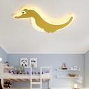 Crocodile Kid Room Flush Light Acrylic Integrated Led Nordic Flush Ceiling Light