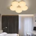 Acrylic Floral Flush Mount Light Modern Simple 40W Led Flush Ceiling Light for Kids