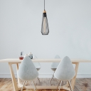 Contemporary Modern Caged Hanging Lights Iron 3-Light Multi Light Pendant with Willow