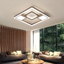 Nordic Style Geometric Flush Light Metallic Led Ceiling Flushmount for Living Room
