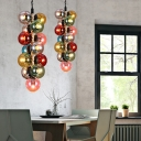 13-Light Bubble Hanging Pendant Lights Modern Glass Rope Pendant Ceiling Lights for Living Room