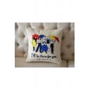 Hot Fashion Figure Letter FRIENDS Printed Cushion Pillowslip 45*45