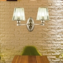 Pyramid Wall Lighting Modern Metal and Crystal Sconce Light Fixture for Living Room and Bedroom