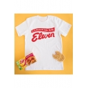 In A World Of Ten Be An Eleven Letter Print Round Neck Short Sleeve White T-Shirt