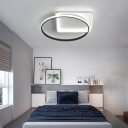 Round and Square Ceiling Flush Light Minimalist Integrated Led Acrylic Close to Ceiling Light