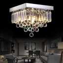 Squared Ceiling Lights Modern Crystal Ball Crystal Fringe Ceiling Light Fixtures for Bedroom