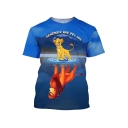 Popular The Lion King Simba 3D Printed Round Neck Short Sleeve T-Shirt