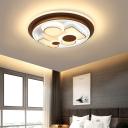 Modern Geometric Flush Mount Lighting Metal LED Gold Ceiling Lamp for Living Room