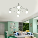Modern Geometric Ceiling Light Fixture 5/7/9 Light Metal Flush Mount Light for Living Room