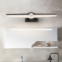 Unique Linear Sconces Modern Acrylic and Iron Wall Light Fixture in Black/White for Bathroom