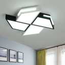 Metal Windmill Flush Mount Ceiling Light Contemporary Integrated Led Flush Light with Diffuser
