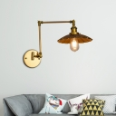 Cone-Shaped Sconce Lights Retro Industrial Metal 1-Light Swing Arm Wall Sconce Light for Foyer
