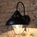 Farmhouse Style Domed Wall Light Fixtures Iron 1 Light Arched Wall Lighting for Corridor