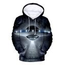 Hot Popular 3D Alien Galaxy Printed Sport Loose Unisex Hoodie