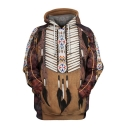 Fashion Unique Ethnic Style Tribal Printed Long Sleeve Indian Hoodie