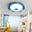 Bear LED Flush Ceiling Lights Modern Nordic Acrylic and Iron 1 Head Lovely Baby Room Light