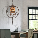 Vintage Bird Ceiling Pendant Lights Iron and Fabric Hanging Lights for Restaurant Coffee Shop