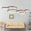 Loops Led Chandelier Lamp Modern Style Metal Ambient Pendant Lighting for Bedroom
