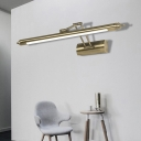 Rotatable Bronze/Black Linear Wall Light Fixture Modern Acrylic LED Wall Sconces in White/Warm White