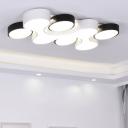 Black and White Combination Set Ceiling Light LED Modern Simple Acrylic Flush Light