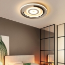 Circle Flush Ceiling Light Contemporary Integrated Led Acrylic Flush Mount Light for Bedroom