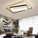 Metal Frame Ceiling Flush Light Modernism Led Indoor Ceiling Light for Living Room