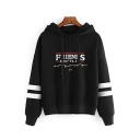Popular Friends Don't Lie Letter Striped Long Sleeve Pullover Hoodie