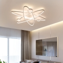 Modernism Orbicular Ceiling Flush Light Metal Led Surface Mount Ceiling Light for Living Room