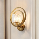 1 Light Creative Ring Sconce Wall Lights Contemporary Crystal and Metal Wall Mounted Lights for Indoor
