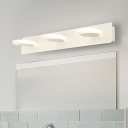 3 Light Warm/White Sconce Lamps Modern Acrylic Metal Linear Wall Lamp for Bedroom Bathroom